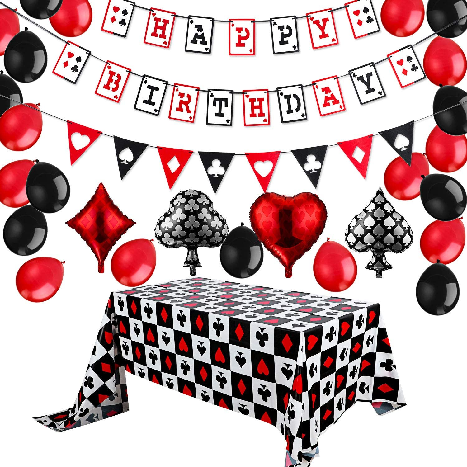 Casino Birthday Party Very popular Decorations Banner Happy Sales of SALE items from new works Kit Casi