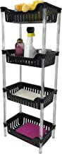 Above Edge Bathroom, Kitchen & Garage 4 Tier Basket Storage Shelving Unit Durable, Water Resistant, Rust Proof Material – ...