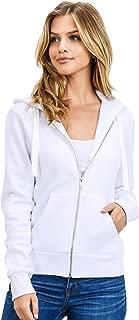 esstive Women's Basic Ultra Soft Fleece Solid Full-Zip Hoodie Jacket