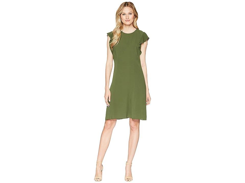MICHAEL Michael Kors Flounce Dress (Jade) Women