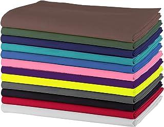 SweetNeedle - Paquet de 12 - Serviettes de table surdimensionnées 100% coton 50 CM x 50 CM (20 po x 20 po), multicolores -...