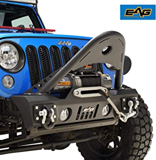 EAG Front Bumper Stinger with D-rings and Fog Lights Hole Fit for 07-18 Jeep Wrangler JK Offroad