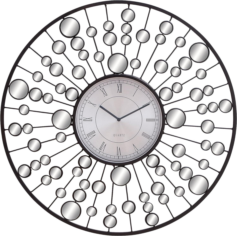 Deco 79 66711 Metal & Mirror Wall Clock