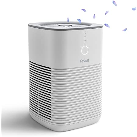 LEVOIT Air Purifier for Home Bedroom, Available for California, Dual H13 HEPA Filter Remove 99.97% Dust Mold Pollen Pet Dander, Desktop Air Cleaner for Smoke, Odor with Aromatherapy, 100% Ozone Free