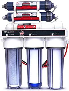 LiquaGen - 6-Stage Reverse Osmosis + Deionization Water Filtration System | 0 TDS - 100 GPD