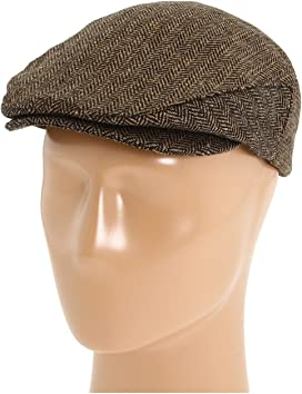 1940s Mens Hats | Fedora, Homburg, Pork Pie Hats Brixton Brood Snap Cap GreyTan Plaid Caps $39.00 AT vintagedancer.com