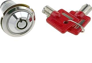 PrimeMatik - Cerradura de leva de 27mm x M18 con llave tubular con interruptor (KY004)