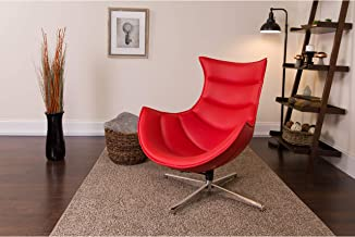 Flash Furniture Red Leather Cocoon Chair
