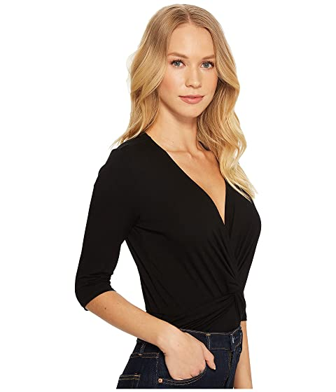 Outlet Buy Only Hearts So Fine Wrap Bodysuit Black Clearance 100% Authentic ZsJInO