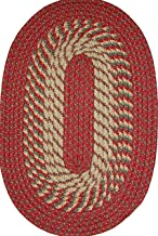 product image for Plymouth 5' x 8' Braided Rug in Red/Olive