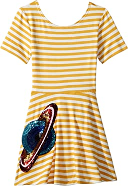 Skater Stripe Saturn Dress (Toddler/Little Kids)