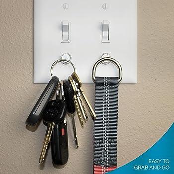 Magnetic Key Rack by Savvy Home (2 Pack) | Key Holder for Light Switch | Smart Modern Design for Keychain Rings, Car Keys, Key FOBs | Easy Installation
