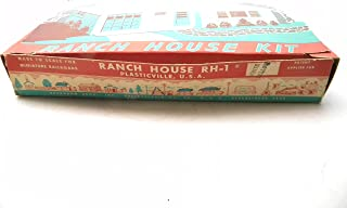Plasticville RH-1 Ranch House Yellow Walls with White Roof Version