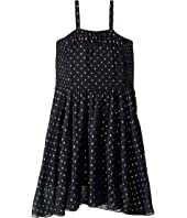 Stella McCartney Kids - Sweetie Sleeveless Tulle Overlay Gold Polka Dot Dress (Toddler/Little Kids/Big Kids)