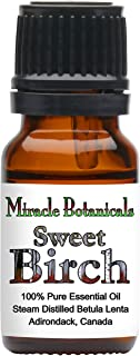 Miracle Botanicals Sweet Birch Essential Oil - 100% Pure Betula Lenta - Therapeutic Grade (10ml)