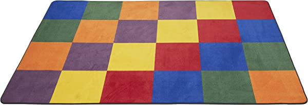 ECR4Kids Patchwork Seating Area Rug For Children Kids Educational Carpet For School Classroom Home 6 X 9 Foot Rectangle
