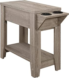 Monarch Specialties 3198 Accent Table, One Size, Dark Taupe