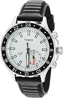 Timex - IQ+ Move Multi Time Leather Strap