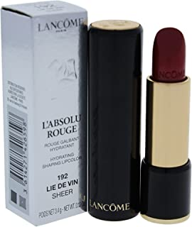 Lancome L'Absolu Rouge Hydrating Shaping Lip Color For Women, No.192 Lie De Vin Sheer, 0.12 Ounce