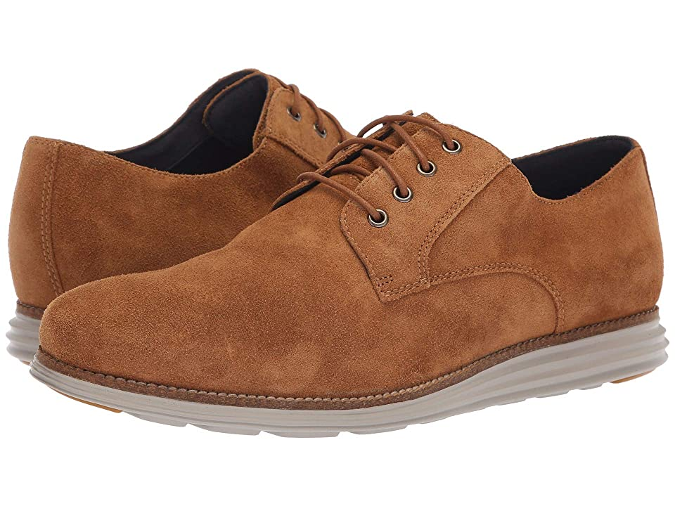 Cole Haan Original Grand Plain Toe (Golden Honey Suede/Ironstone) Men