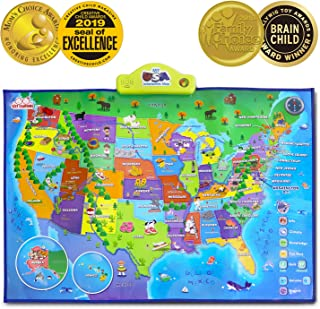 BEST LEARNING i-Poster My USA Interactive Map - Educational Talking Toy for Kids of Ages 5 to 12 Years