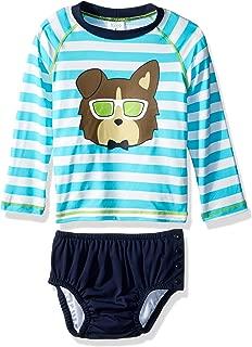 KIKO & MAX Baby Boys Rashguard and Diaper Cover Swim Set