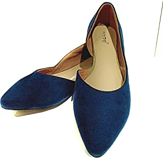 Hype Latest Collection, Comfortable & Fashionable BelliesFlats Bellies for Women's and Girls.(Suede Leather)