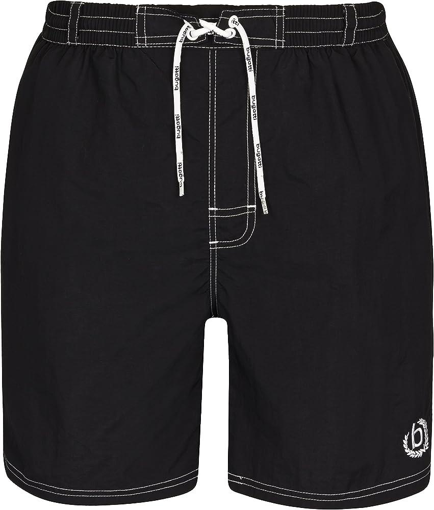 Bugatti®, costume da bagno a pantaloncini per uomo, 100% poliammide, nero