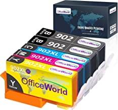 OfficeWorld Compatible Ink Replacement for HP 902 902XL Ink Cartridge (5 Packs), Work with HP OfficeJet Pro 6968 6978 6958 6962 6960 6970 6979 6950 6954 6975 Printer (2BK, 1 Meganta,1 Cyan,1 Yellow)