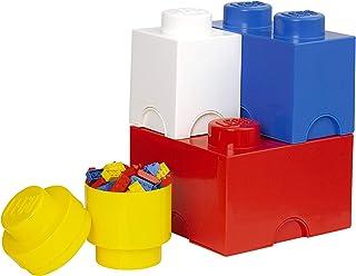 Légo 40150001 Pack de 4 Briques de Rangement, Plastique, Bleu/Rouge/Jaune/Blanc, 0 cm