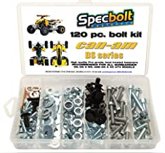 120pc Specbolt CAN AM Bombardier ATV Bolt Kit:DS, Sport, Mud, Recreation, Utility, Renegade, Outlander Max, X, MR Traxter XL XT, Quest, Rally, Sarasota, 50 70 90 175 250 330 400 450 500 650 800 1000