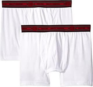 Men's 2-Pack Cotton Performance White Short Leg Boxer Brief