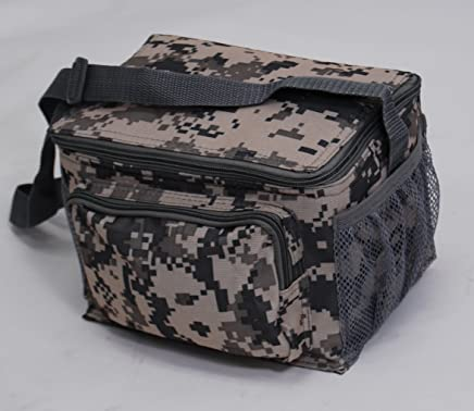 f090bf394a32 ACU Print Digital Camouflage Deluxe Insulated 6 Packs Cooler Lunch Bag