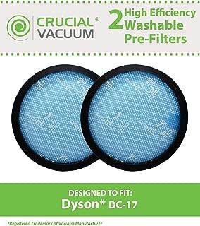 Think Crucial 2 Dyson DC17 Long Life Washable & Reusable Pre-Filters, Replaces Dyson Part # 911236-01, 91123601