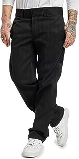 Dickies Men's Slim Straight Fit Work Pant, Washed Black