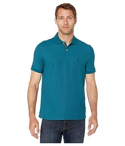 Nautica Solid FCA Deck Shirt (Blue 1) Men
