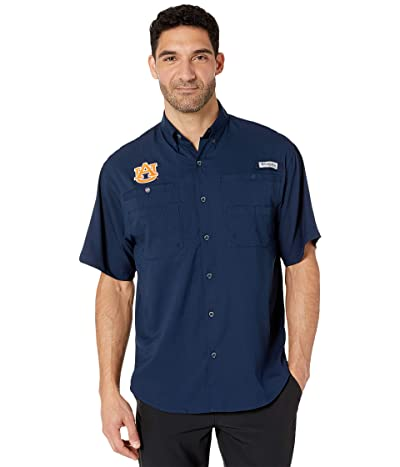 Columbia College Auburn Tigers Collegiate Tamiamitm II Short Sleeve Shirt (Collegiate Navy) Men
