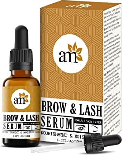 AromaMusk Brow & Lash Growth Serum For Thicker, Longer Eyebrows and Eyelashes, 30ml (With Castor Oil & 100% Natural Ingred...