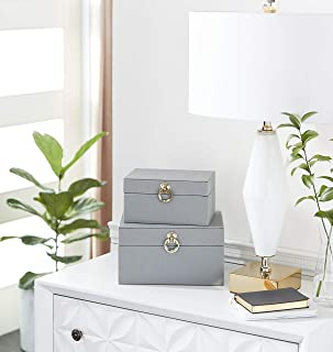 Deco 79 Box, Grey