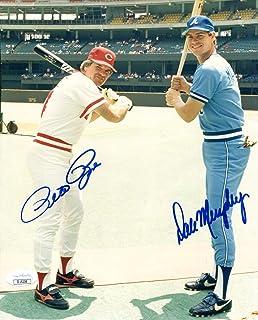 Pete Rose & Dale Murphy Autographed 8x10 Photo (JSA) - Autographed MLB Photos