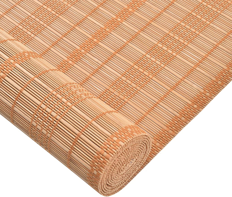 WZNING Bamboo Roller Blind - Curtains Max 46% OFF Window Shades San Antonio Mall Bli