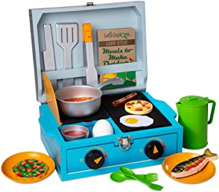 Melissa & Doug 40804 Let's Explore Camp Stove Pretend Play Set | 3+ | Gift for Boy or Girl