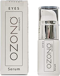 OZONO H&B Siero Contorno Occhi Antirughe Professionale EYES Serum - Olio Ozonizzato, Estratti Naturali Nutrienti - Antibat...