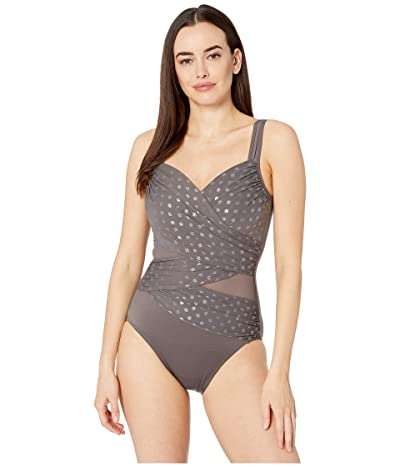 Miraclesuit Perla Madero One-Piece (Silver Grey) Women