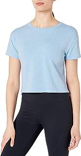 Amazon Brand - Core 10 Women's Pima Cotton Cropped Short Sleeve T-Shirt