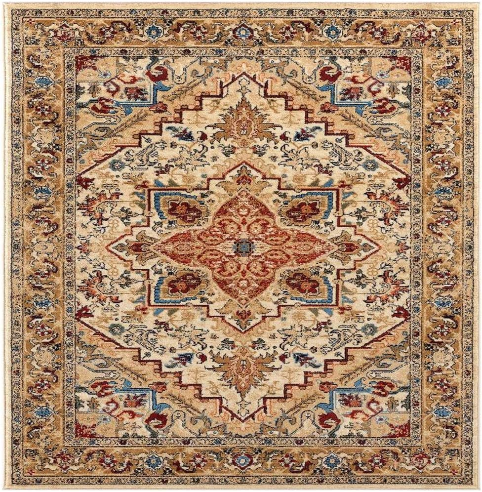 Latest item Luxe Weavers Howell Collection Oriental 5x7 2522 Area Manufacturer regenerated product Rug Ivory