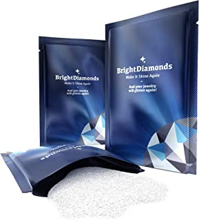 BrightDiamonds Jewelry Cleaner Polish Powder Solution - 3 Pack New Safe Dirt and Grime Cleanser for Diamond Gold Platinum or Non-Treated Gemstone Jewelry