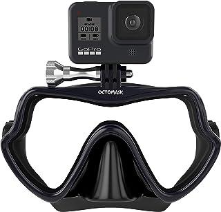 OCTOMASK - ماسک شیرجه فریم لس با / نصب برای همه دوربین های GoPro Hero برای غواصی ، غواصی ، غواصی آزاد