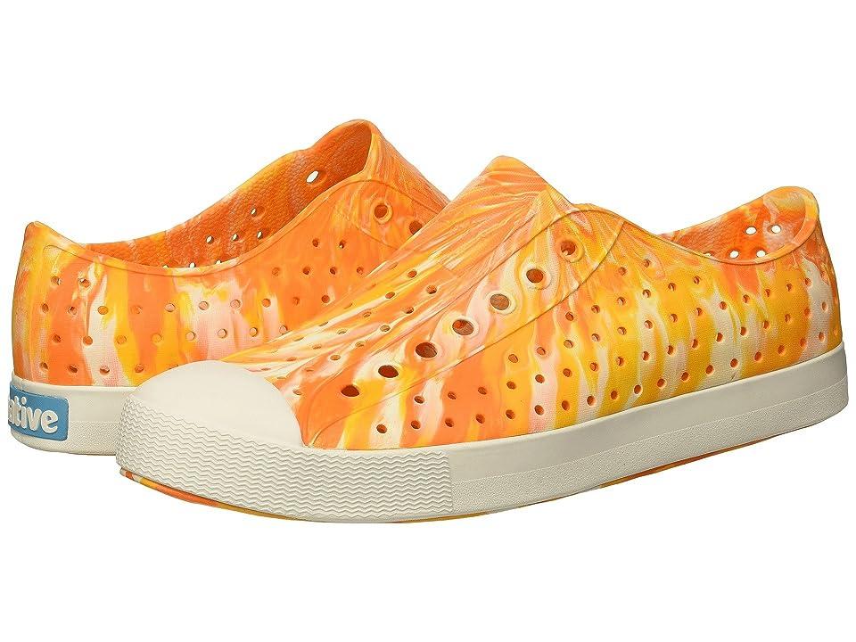 Native Shoes Jefferson (Sunset Orange/Shell White/Marbled) Shoes