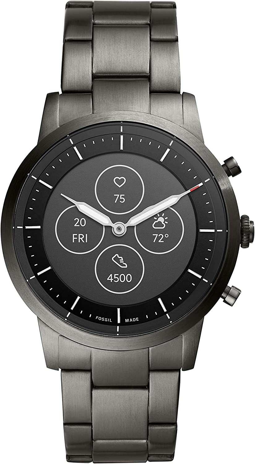 Fossil Men's Hybrid Smartwatch HR with Always-On Readout Display, Heart Rate, Activity Tracking, Smartphone Notifications, Message Previews